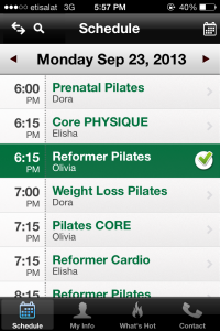 Download the Real Pilates app in the iPhone app store